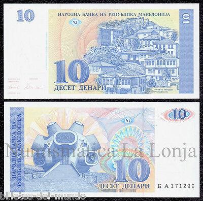 B-D-M Macedonia 10 denari 1993 Pick 9 SC UNC