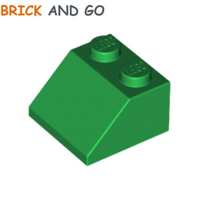 New LEGO Lot of 8 Green 2x2 Roof Slope Pieces