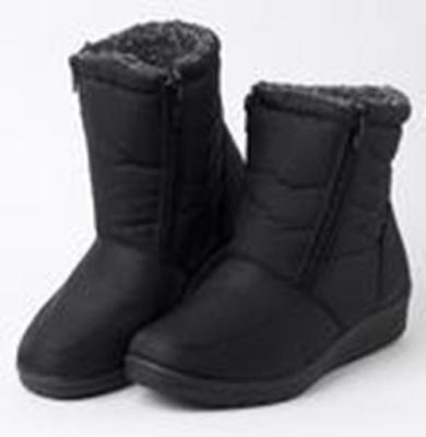 Damas Marrón Invierno Botas De Nieve Mujer Tobillo Alto Piel Sintética Sin Cordones Cómodo Botas 3-8