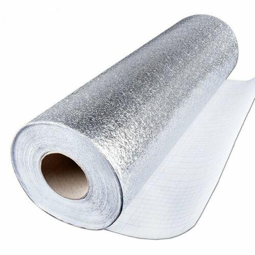 Кухонная настенная плита алюминиевая фольга масло-доказательство наклейки противообрастающих настенные наклейки # ^