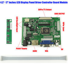 HDMI VGA 2AV 50P TTL LVDS LCD LED Controller Board Module Kit for Raspberry PI 3