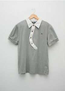 Homme-Vivienne-Westwood-Gray-Polo-Taille-M-made-in-Italy