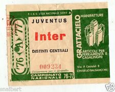 CALCIO   BIGLIETTO  TICKET   JUVENTUS  INTER   CAMPIONATO   1976/77