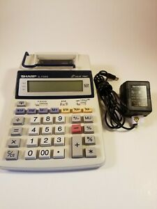 Sharp Printing Calculator for Tax & Accounting (EL-1750PII) w/ AC Adapter