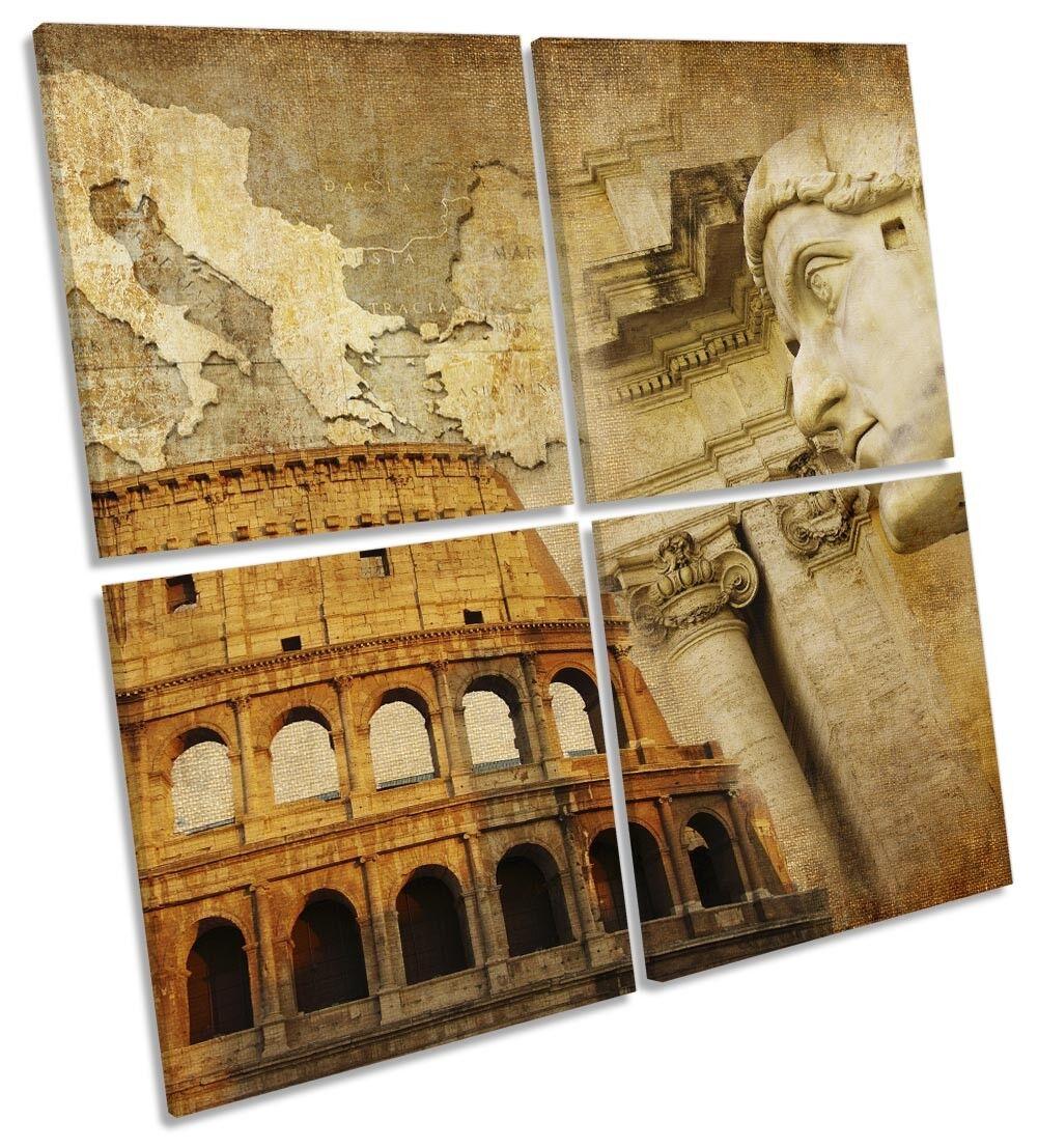 Rome  Landmarks Picture MULTI CANVAS WALL ART Square