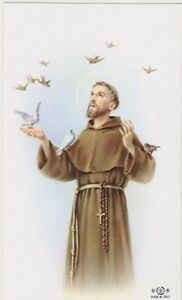 Holy-Card-034-Saint-Francis-of-Assisi-034-Holy-Card-Religious-67