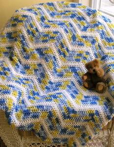 Crochet baby blanket  baby boy blanket  chevron baby blanket  new baby gift  handmade baby blanket  READY TO SHIP