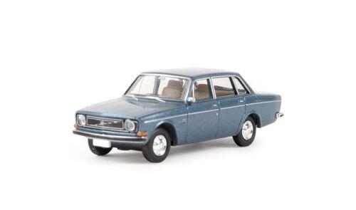 Brekina 29416-1//87 VOLVO 144 Limousine-blu-metallico-NUOVO