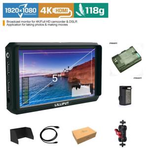 Lilliput-A5-HDMI-IPS-1920x1080-Camera-Field-Monitor-F970-LP-E6-LP-E6-Battery