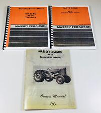 Set Massey Ferguson Mf50 Mf 50 Tractor Service Operator Parts Manual Shop Owners