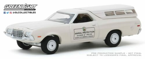 A.s.s nuevo GreenLight 1//64 Ford Ranchero animal Police Department Hot Pursuit