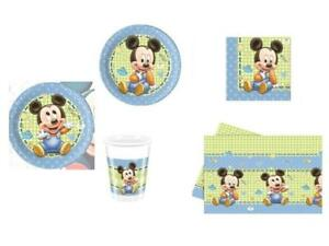 Tavolo Compleanno Topolino : Coordinato tavola completo baby topolino addobbi set kit piatti