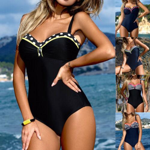 Ladies Women/'s One Piece Bikini Push Up Padded Bra Swimsuit Beachwear Bathing