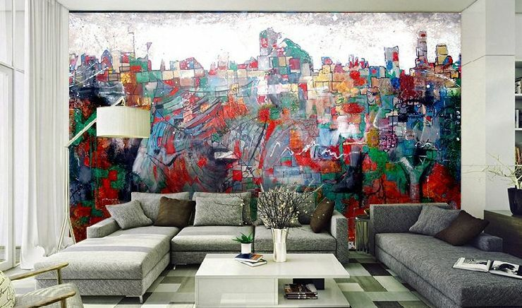 3D Abstract Painting Wall Paper Wall Print Decal Wall Deco Indoor wall Murals