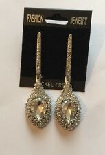 Silver Crystal Bridesmaid Party Occasions Diamante - Chandelier Earrings Long