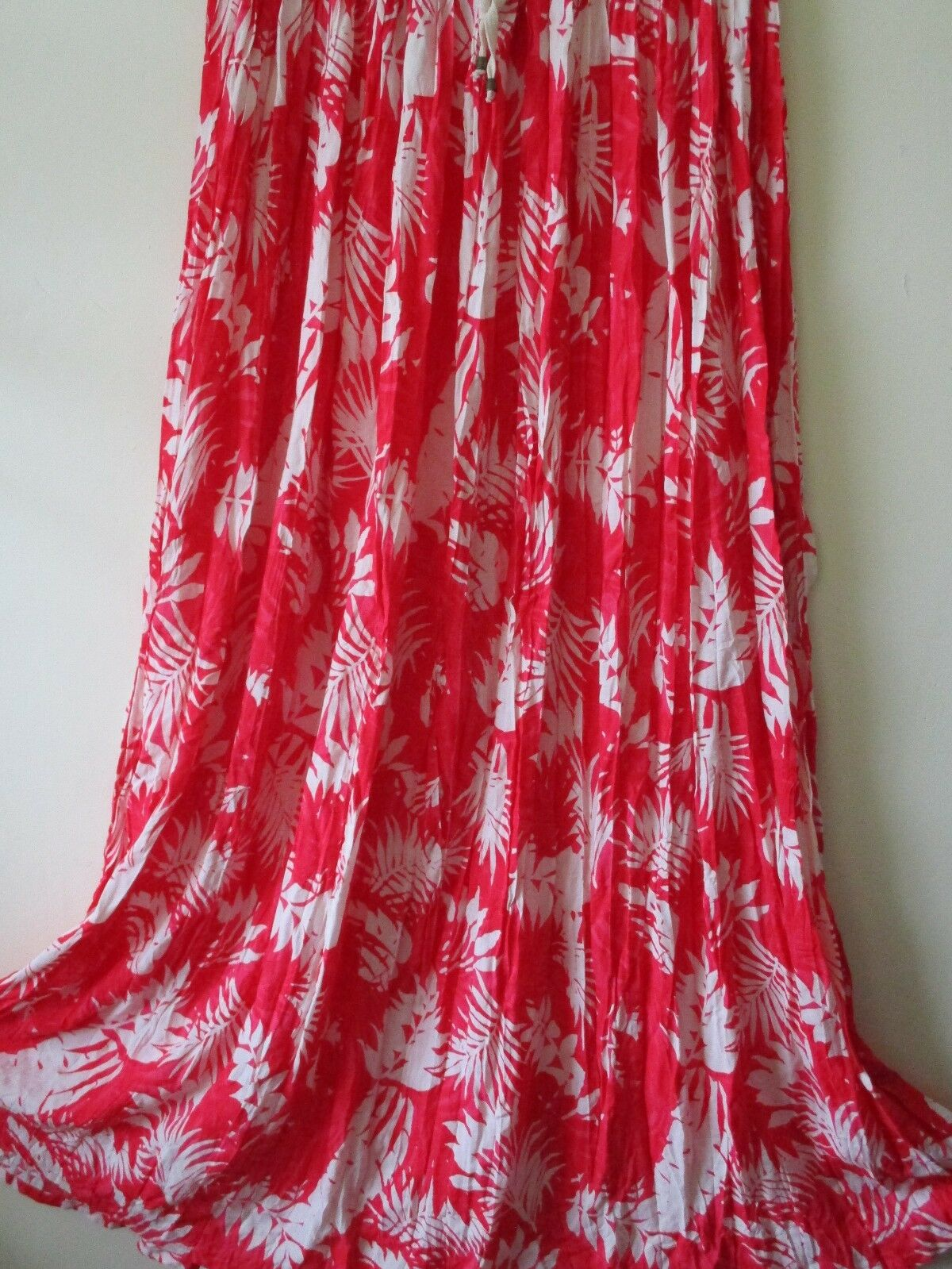 MNG MANGO SKIRT MAXI Midi Red Ivory  FESTIVAL Boho Floral Sz L  12 14 NEW