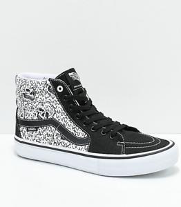 Details about 8.5 New Vans x Sketchy Tank Sk8 Hi Pro Reflective Black & White Skate Shoes x1