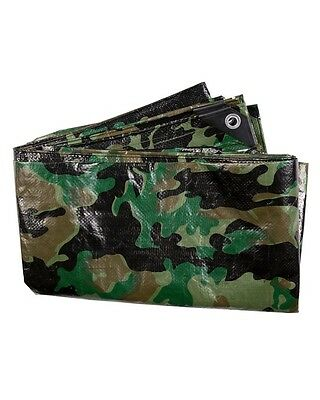 Militay Style Cadet Camo PE Tarp 3x1.8 M Scout Paintballing Prepper Army Camping