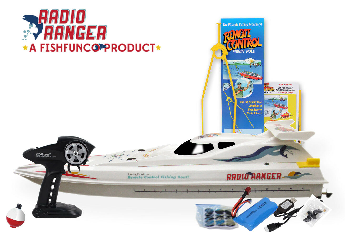 Radio Ranger lll  34  Remote Control Fishing Boat UPGRADED 2.4Ghz Remote System