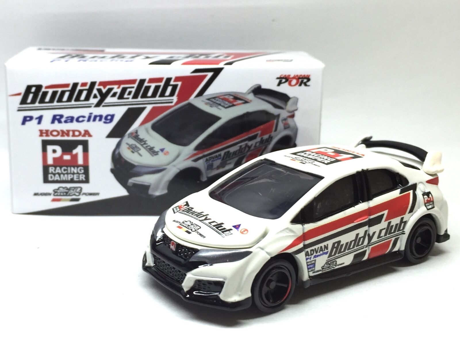 JAPAN TOMY TOMICA BUDDY CLUB ADVAN RACING HONDA CIVIC TYPE R FK2 1/64 DIECAST