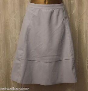 84d531652 Asos Leather Look PU Flare Mini Skirt Skater Light Blue 12 40 | eBay