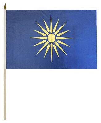 "Wholesale Lot of 12 Greece 4/""x6/"" Desk Table Stick Flag"