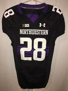 Image is loading Game-Worn-Northwestern-Wildcats-Football-Jersey-Used-Under- 467204fc5