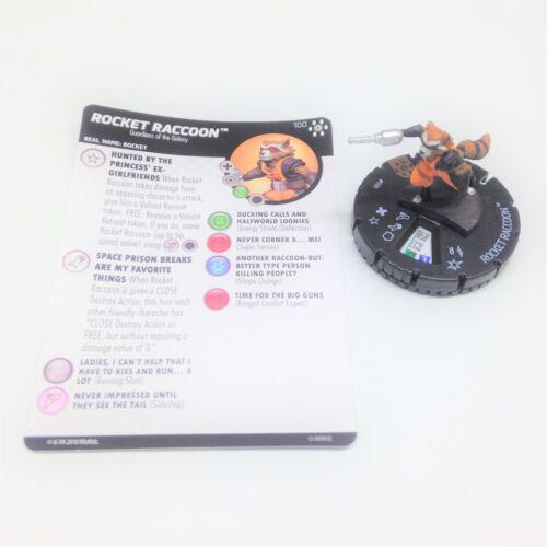 Heroclix Avengers Infinity set Rocket Raccoon #100 Limited Edition figure w//card