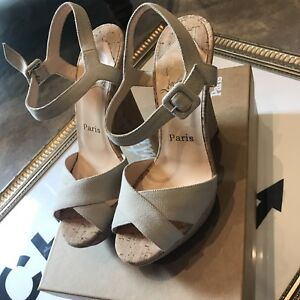 Christian-Louboutin-Maggie-Wedges-Size-36-5-Brand-New