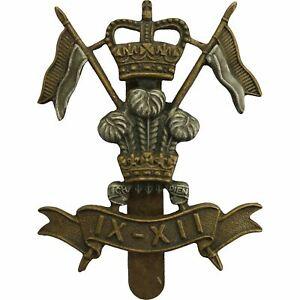 Queens-Crown-9th-12th-Royal-Lancers-Regiment-Cap-Badge-IX-XII-BW71