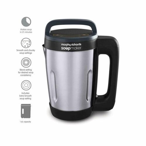 Morphy Richards 501028 Soup Maker 4 Settings 1.6 Litre Brushed S/Steel