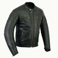 Motorrad Jacke, Retro Jacke, Lederjacke, Vintage, Rider Classic, Corse, Schwarz