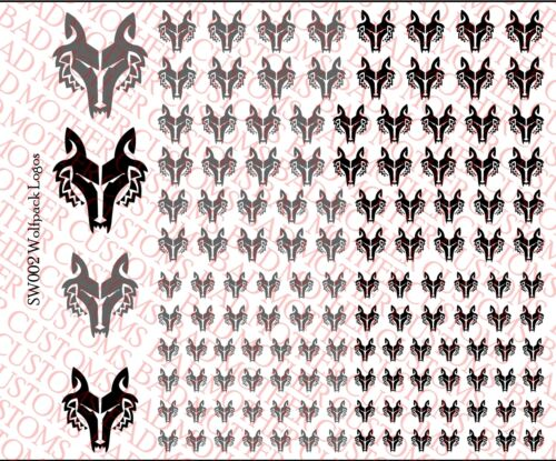 Scale Decals Star Wars Wolf Pack Waterslide Decals for 1//18 and 1//12 figures