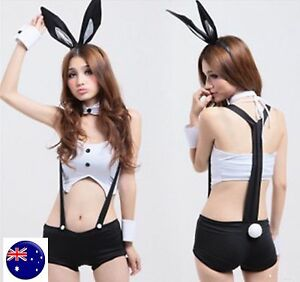 Women-Sexy-Easter-Foreplay-Bunny-Rabbit-Costume-Suspender-Nightie-Lingerie-Set
