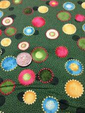 100% Cotton quilting Fabric Benartex Holiday Favourites Green Nancy Halvorsen
