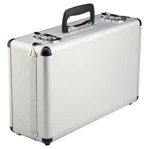 Petit-Valise-Aluminium-Flight-Case-Box-Silver-mousse-outil-Voyage-Transport