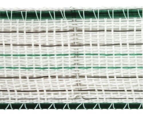 grün Weidezaun Band Breitband 200 m Premiumline Weidezaunband 20 mm weiß