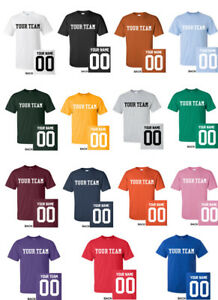 fb4efc010 Image is loading CUSTOM-T-Shirt-JERSEY-Personalized-ANY-COLOR-Name-