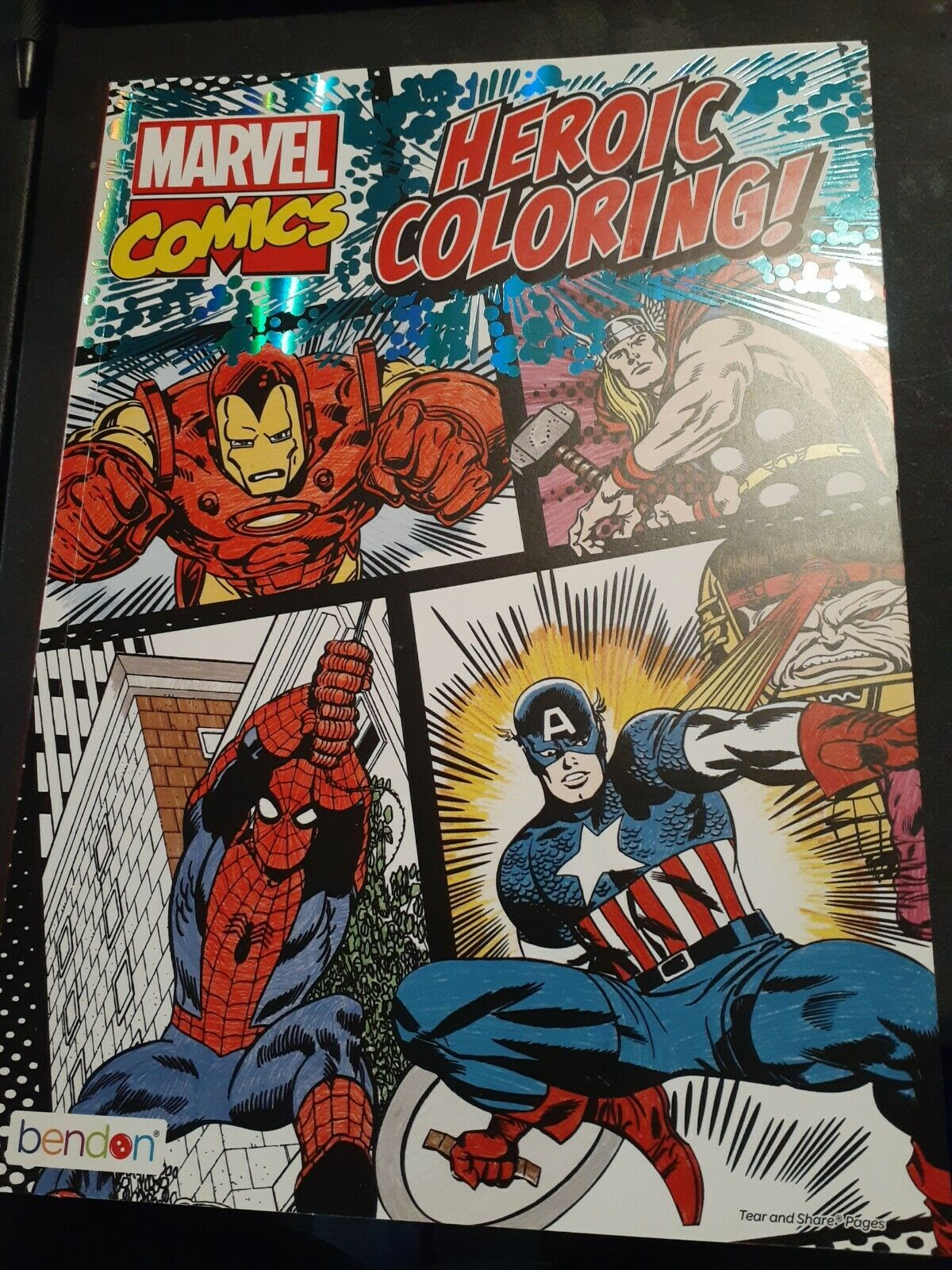 Marvel Comics Heroic Coloring Book Classic Marvel Characters Paperback Book New For Sale Online