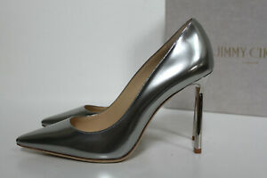 489cfbe28cfe 5.5   35.5 Jimmy Choo Romy Silver Mirror Metallic Leather Pointed ...
