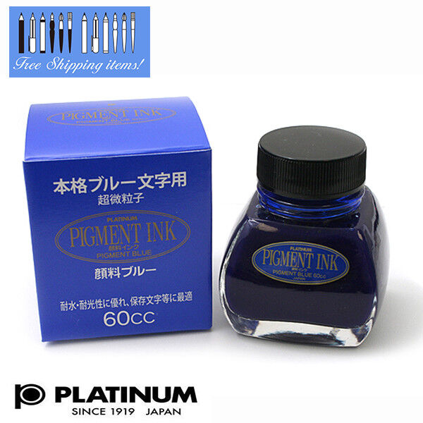 Platinum Pigment Ink INKC-1500 #60 Bottle Ink Blue 60cc Made in Japan