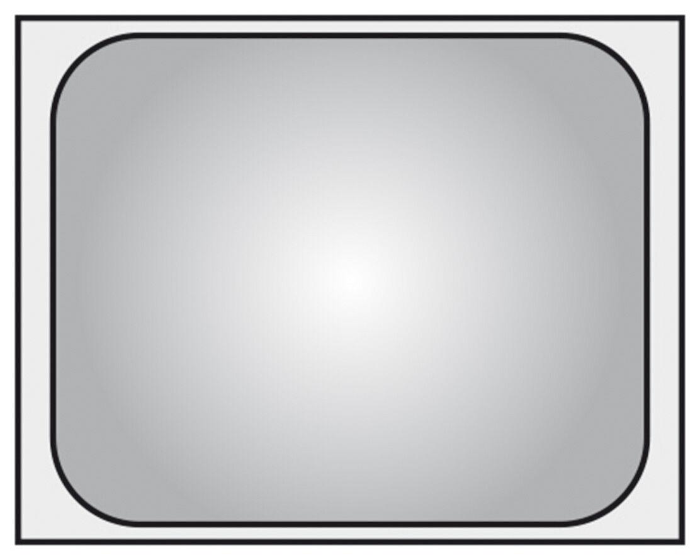 Piazza Effepi - Bacinella GN 2 1 in acciaio inox 65 x 53 cm Gastronorm 6 misure
