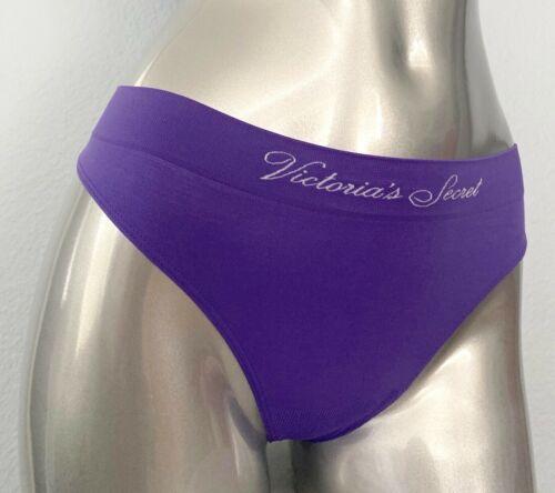 Victorias Secret Perfect Comfort Seamless Thong Mystical Grape Purple Panty Logo