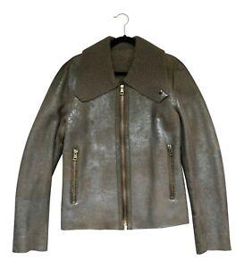 Paul Smith MAINLINE Metallic Shearling Jacket LS Leather Jacket RRP £2100