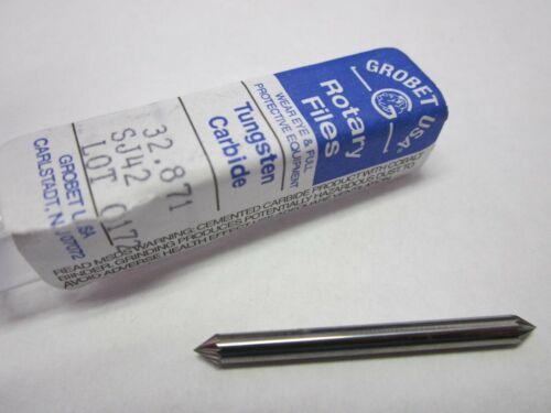 "Grobet Double End Deburring Burr 1//8 x 1//8 x 3//32/"" x 1-1//2/"" Carbide Standard Cut"