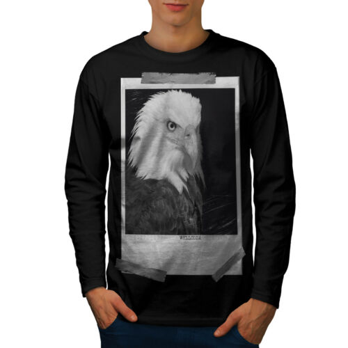 Picture Graphic Design Wellcoda Bald Eagle Mens Long Sleeve T-shirt