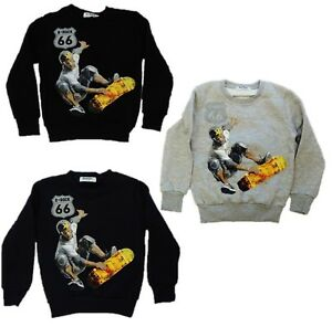 3er-Pack-Jungen-Thermo-Sweatshirt-Pullover-Groesse-164-170-Skater