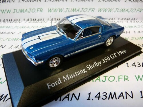 CH9T Voitures Mythiques Atlas IXO Chapatte FORD Mustang Shelby 350 Gt 1966