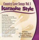 Karaoke Style: Country Love Songs, Vol. 1 by Karaoke (CD, Jul-2003, Daywind)