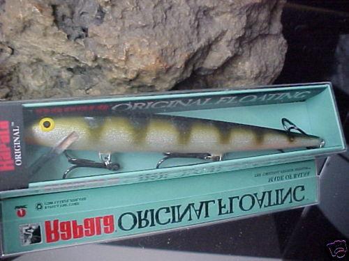 "RAPALA 7/"" Original Balsa Floating F18 YP YELLOW PERCH for Bass//Walleye//Pike"